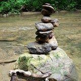 Land'Art au fil de l'eau, création, re-source