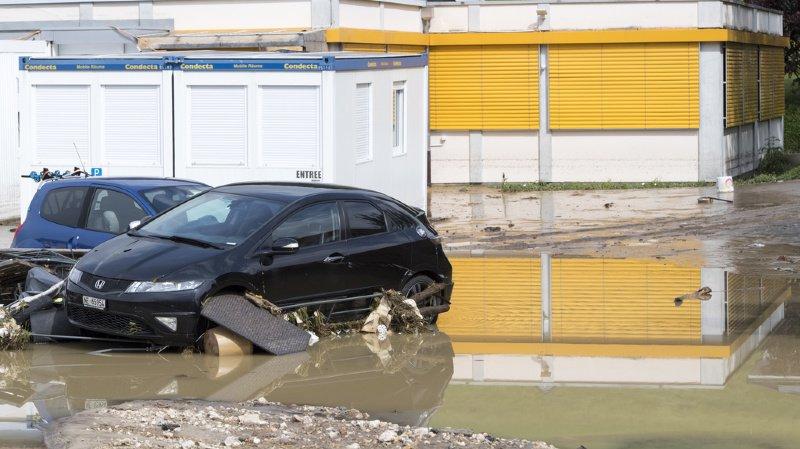 Intempéries: la mobilisation ne faiblit pas au Val-de-Ruz
