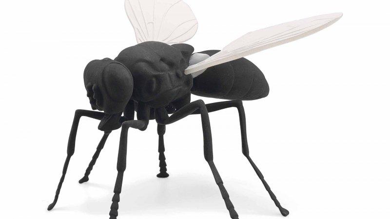 La mouche a été réalisée en l'an 2000 par l'Allemande Katharina Fritsch.