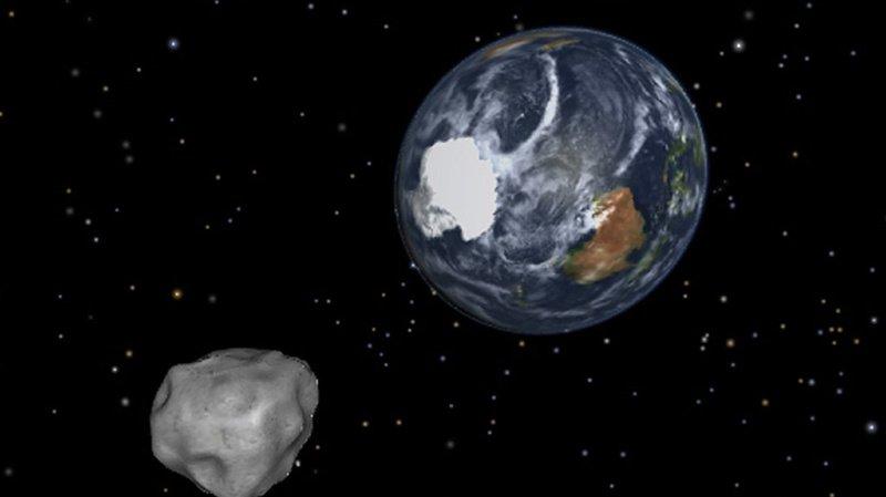 Aucun astéroïde connu ne présente un risque important d'impact sur la Terre au cours des 100 prochaines années. (illustration)