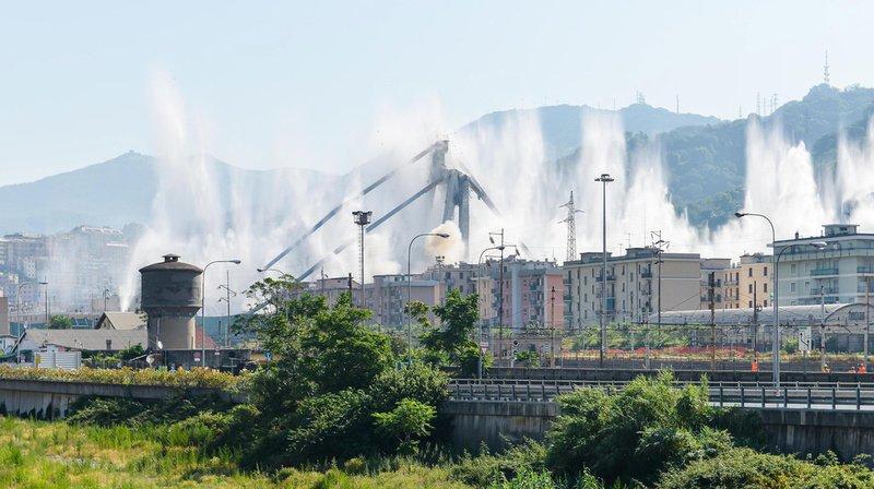 Italie: le pont Morandi de Gênes a été dynamité