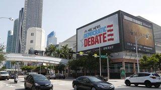 Vingt démocrates  sur la scène de Miami