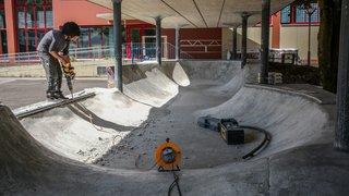 12e chantier participatif du skatepark du Locle