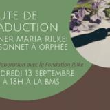 Joute de traduction : 1er sonnet à Orphée de Rainer Maria Rilke