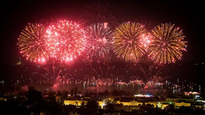 Le feu d'artifice de Neuchâtel en 2018.