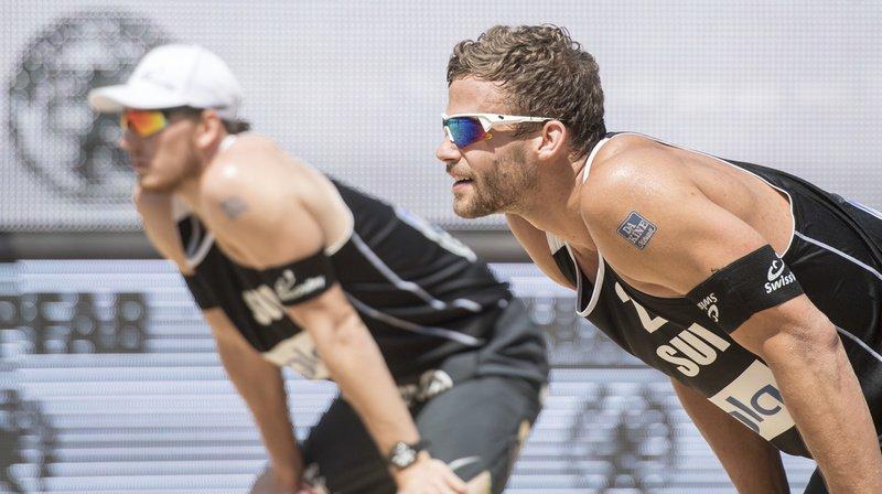 Les Suisses Nico Beeler et Marco Krattiger étaient tête de séries no 10 du tournoi World Tour d'Edmonton. (Archives)