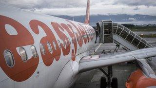 Transport aérien: des sièges sans dossier dans un avion Easyjet reliant Luton à Genève