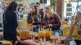 Week-end pétillant au marché bio de Saignelégier