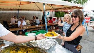 Paella géante et plongée pour la Fête du port de Cortaillod