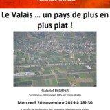 Conférence:Le Valais, un pays de plus en plus plat
