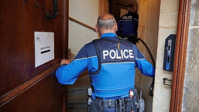 Le procès en appel se déroule sous haute surveillance cette semaine au Château de Neuchâtel.