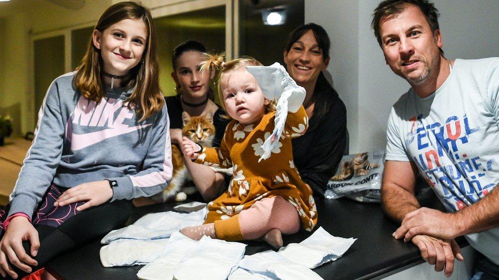 Avec les couches de la petite dernière et la litière des deux chats, la famille Martin Koeune a du mal à réduire ses déchets. Mais la motivation reste entière.