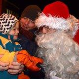 Père Noël en ski - Descente aux flambeaux