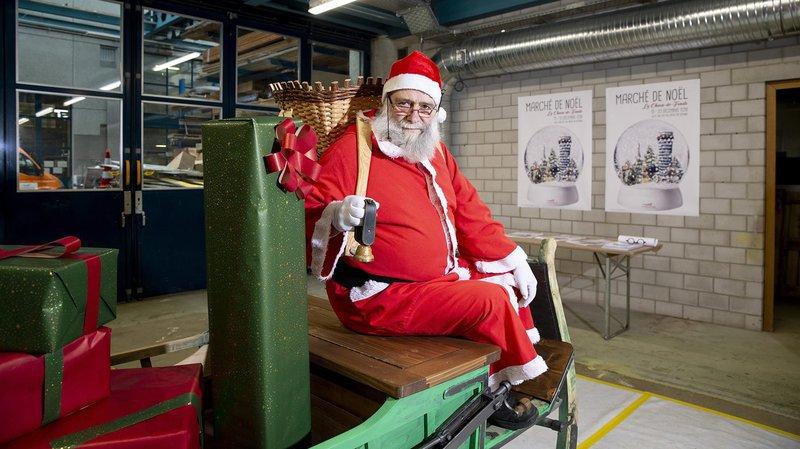 Le père Noël viendra à bord de son traîneau remis à neuf.