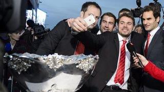 En 2014, la Suisse célèbre les héros de la Coupe Davis
