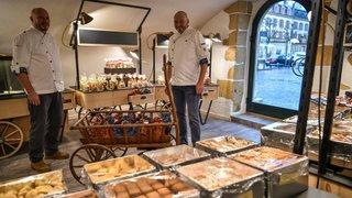 La famille Mäder a ouvert sa biscuiterie à Neuchâtel