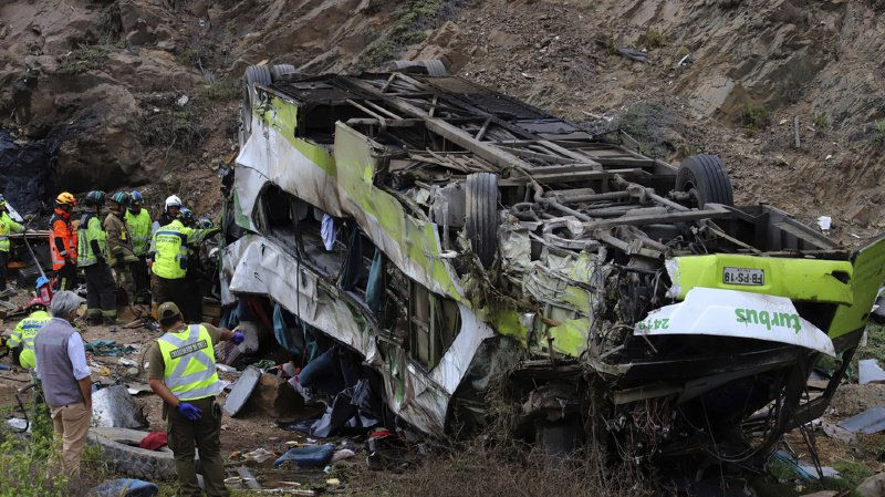Le bus à deux étages était parti dans la nuit de dimanche à lundi de la ville d'Antofagasta et se dirigeait vers Ovalle.