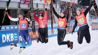 Biathlon: le relais féminin suisse décroche son deuxième podium de suite en Coupe du monde
