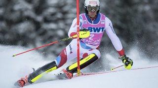 Ski alpin – Slalom: Ramon Zenhäusern 4e de la première manche, enlevée par Clément Noël